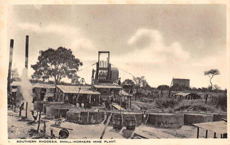 Zimbabwe Southern Rhodesia, Small-Workers Mine Plant, industry, factory