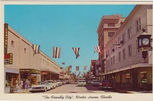 WINTER HAVEN - DOWNTOWN STREET, 1950s era with old cars