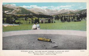 COLORADO, 1900-1910´s; Nature Never Formed A Lovelier Spot, Golf Couple Admi...