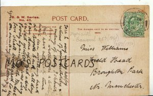 Genealogy Postcard - Williams - Field Head - Broughton Park - Manchester - 9065A
