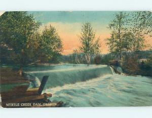 Divided-Back RIVER DAM Myrtle Creek Oregon OR HJ7739