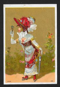 VICTORIAN TRADE CARD Stock Card Fancy Dressed Lady