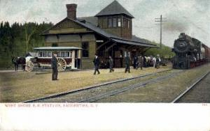 West Shore R.R. Station, Saugerties, New York, NY, USA Railroad Train Depot P...
