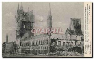 Old Postcard Belgium Ypres The halls after the bombing of German