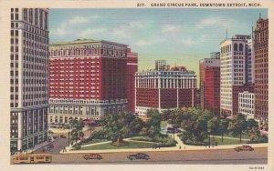 Michigan Detroit Grand Circus Park Downtown Detroit