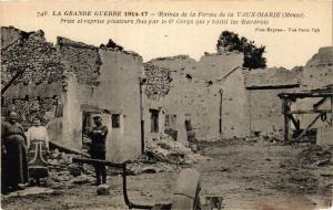 CPA   1914-15 - Ruines de la Ferme de la Vaux-Marie (Meuse) -Prise et.. (432448)