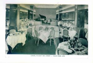 New York City to Canton, NY, 1942, Larue Restaurant 58th Street used Potcard