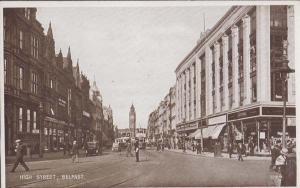 High Street Belfast Ireland Vintage Postcard