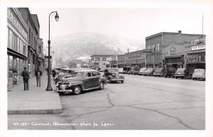 Colville Washington~Main Street~Barber Pole~Burgan's A&K Market~Fonk's~1940 RPPC