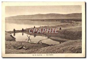 Old Postcard View of Palestine Dead Sea