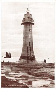 NEW BRIGHTON MERSEYSIDE UK THE LIGHTHOUSE PHOTO POSTCARD 1920s
