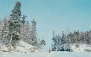 Frozen Lake near Flin Flon MB, Manitoba, Canada