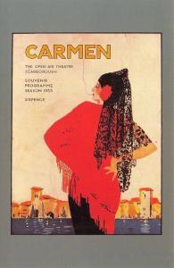 Nostalgia Postcard Scarborough Open Air Theatre Poster, Carmen 1935 Repro #N48