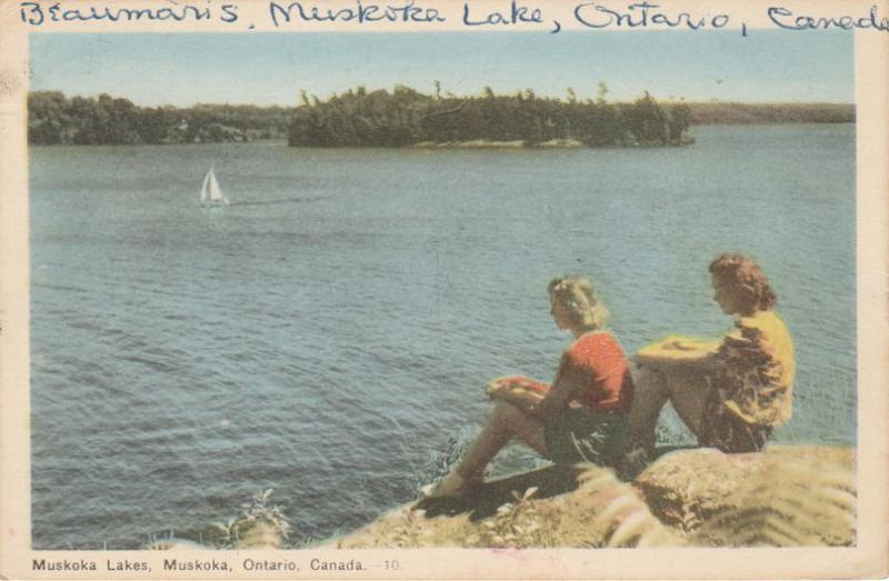 Relaxing on Shore at Muskoka Lakes - Muskoka, Ontario, Canada - pm 1948