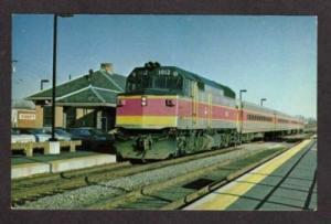 Massachusetts  NORWOOD CENTRAL Ma Station Depot MBTA Railroad Train Postcard