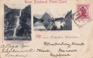 Sutherland Fall Summit Earliest Ever ? 1902 New Zealand Postcard