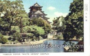 White Heron Castle Osaka Japan 1912
