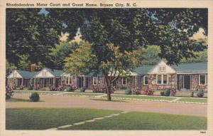 Rhododendron Motor Court and Guest Room, Bryson City, North Carolina, 30-40s