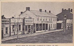 West Side Of Square, Jefferson House, Fairfield, Iowa, 1914