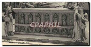 Postcard Old Death Nantes Cathedral Tomb of Francis II Duke of Brittany Lion