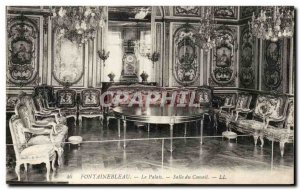 Old Postcard Fontainebleau Palace Council Room