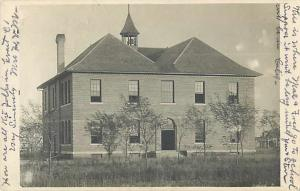 RPPC of School in Fairview Oklahoma OK 1910
