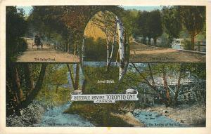 Toronto Ontario~Rosedale Ravine~Valley Rd~Stream of Valley~Bridge~1920s
