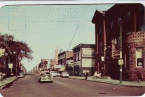 P1358 vintage unused postcard old cars queen street view sault ste marie ontario
