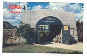 Entrance Gate, Prison walls, Yuma, Arizona 40-60s