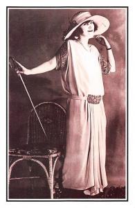 Walking Elegance mannequin model dress fashion Beauty 1920s Nostalgia Reprint