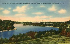 KY - Louisville, Lower View of Portland Canal & Hydro Electric Plant