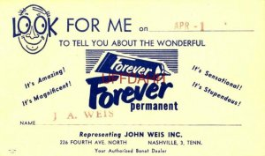 LOOK FOR ME ON APR 1, 1954 J A WEIS NASHVILLE, TN Authorized Boat Dealer