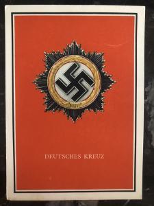 Mint Germany Patriotic Postcard German cross WW2