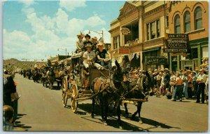 Phoenix, Arizona Postcard Parade Scnee Stage Coach (Jaycees Rodeo?) c1960s