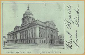 Fort Wayne, IND., Allen County courthouse - Green Card - 1906