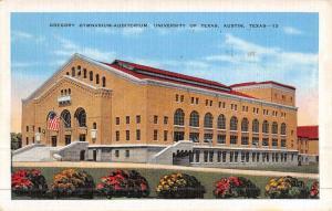 Austin Texas University Gymnasium Antique Postcard K46947
