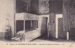 Chambre De Diane De Poitiers, Chateau De Chaumont-Sur-Loire (Loir et Cher), F...