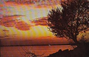Oklahoma City Sunset On Lake Overholser 1951