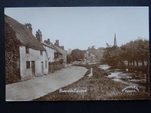 Kent EYNSFORD Riverside -  Old RP Postcard by R. Gee