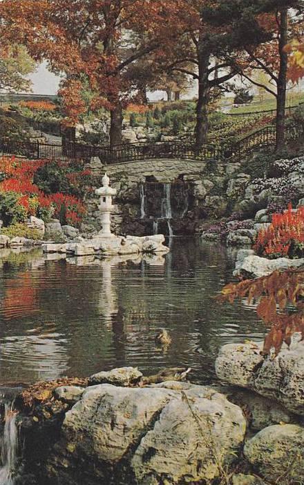 Scenic view, High Park's flower garden, Toronto, Ontario,  Canada, 40-60s