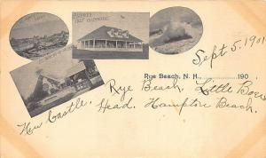 Rye Beach NH Multi-View in 1901 Private Mailing Card Postcard