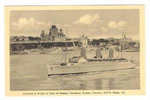 Ocean liner EMPRESS of BRITIAN at Chateau Frontenac , Quebec , Canada , 30-40s