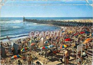 Postcard Modern Capbreton The Pier and Beach
