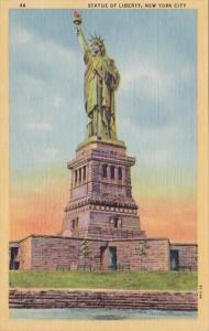 New York City Statue Of Liberty At Sunrise Curteich