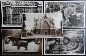 EXETER CATHEDRAL - Collection of 5 Old RP Postcard by Walter Scott
