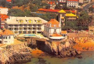 Portugal Cascais Albatroz Hotel Pension Beach Air view Postcard