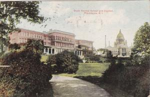 PROVIDENCE, Rhode Island, PU-1910; State Normal School And Capitol