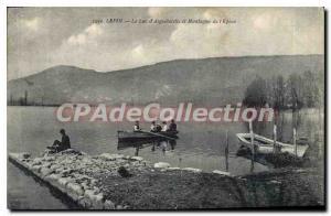 Old Postcard Lepin Lake Aiguebelette Mountain Thorn