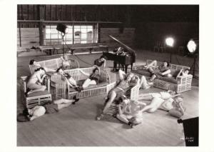 Postcard of Broadway Melody of 1936 Movie Chorus Girls Take a Break