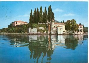 Italy, Lago di Garda, S. Vigilio visto dal lago, used Postcard
